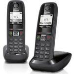 2. Gigaset AS405 - Duo DECT telefoon - Zwart